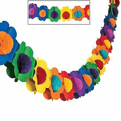 Fun Express Multicolor Tissue Flower Garland Novelty](Paper Flower Garland)