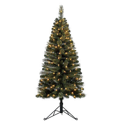 Home Heritage 5 Ft Artificial Corner Christmas Tree w/ LED Lights (Open Box) ()