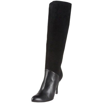 $1195 NEW BALLY US 11 EUR 41.5 Black Leather Suede Knee-High Fashion Boots Shoes