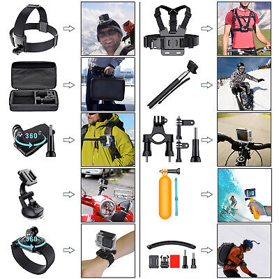 Newest 50-in-1 Gopro Outdoor Sport Camera Accessory Kit For GoPro Hero 5 4 +3 2