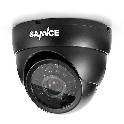 SANNCE 1pcs In/Outdoor 900TVL IR Cut Home Surveillance Dome CCTV Security Camera