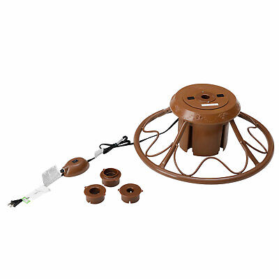 Home Heritage Brown Rotating Tree Stand for Trees up to 9 Feet Tall (Open Box)