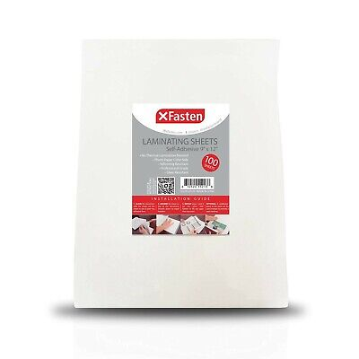 Xfasten Self-adhesive Laminating Sheets 9 X 12 Inches 100-pack