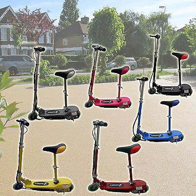 Electric Scooter Kids Battery Ride On Stand Escooter Adjustable Removeable Seat
