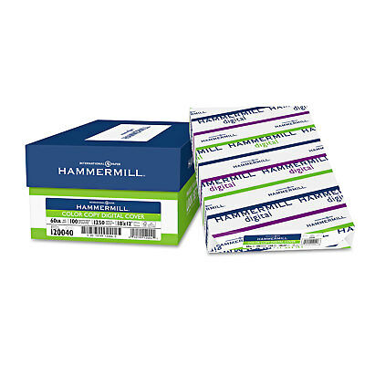 Hammermill Copier Digital Cover Stock 60 Lbs. 18 X 12 Photo White 250 Sheets