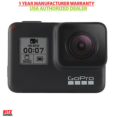 GoPro HERO7 Black USA - Waterproof 4K Action Camera + Touch Screen CHDHX-701 New