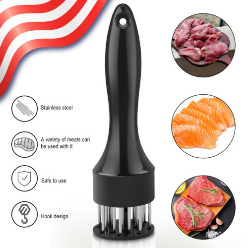 Profession Meat Tenderizer 24 Stainless Steel Sharp Needle Kitchen Tool Beef US