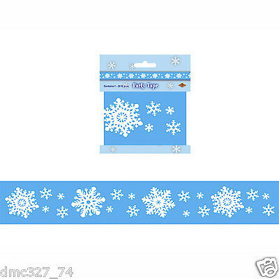 CHRISTMAS Winter FROZEN Decoration Prop SNOWFLAKE PARTY TAPE