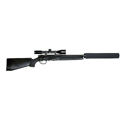 Tourbon Black Neoprene Gun Rifle Silencer Cover Case Sound Moderator Suppressor