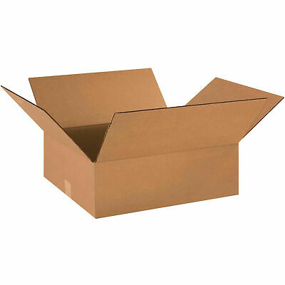 18 X 16 X 6 Flat Cardboard Corrugated Boxes 65 Lbs Capacity Ect-32 Lot Of