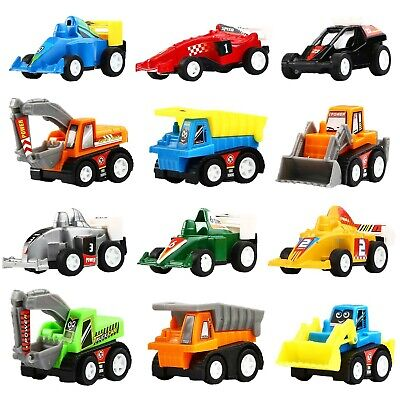 Pull Back Vehicles, 12 Pack Mini Assorted Construction Vehic