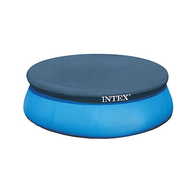 Intex 7.3 Ft Above Ground Swimming Pool Vinyl Round Cover Tarp, No Pool Included