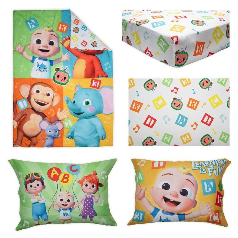 Cocomelon 4-Piece Toddler Bedding Set Sheets Bedspread Pillowcase New