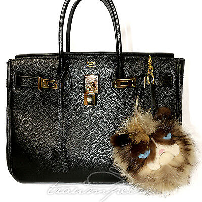 ger Pelz Fell Bag Bugs Monster Keychain Charm Fur Grumpy Cat (Monster Pelz Fell)