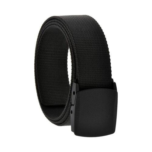 "Black Tactical Belt 1.5"" Airport Metal Detector Friendly Military Security Strap"