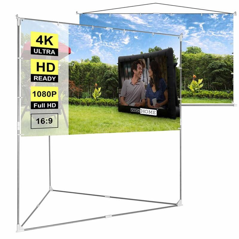 """VIVOHOME 100"""" Full HD Projector Screen Stand & Hanging Indoor Outdoor Projection"""