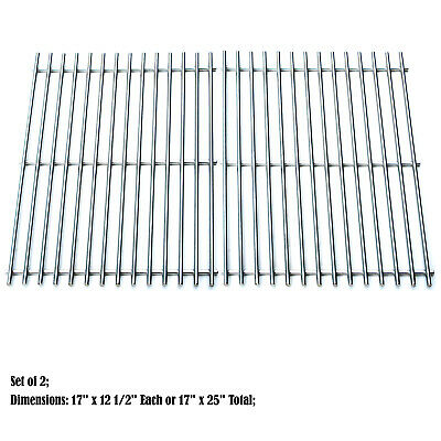 Great Outdoors Stainless Steel Grill (Solid Stainless Steel grid Replacement Charbroil 463250509, Great Outdoors)