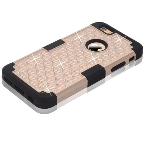 Bling Rhinestone 3 in 1 Shockproof Protective Case for Apple iphone 6/6S Plus 5.