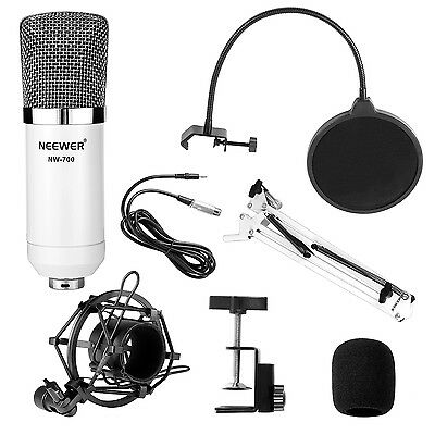 Neewer NW-700 Condenser Microphone Kit with Arm Stand Shock Mount Pop Filter