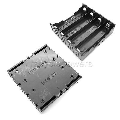 10 x 4*18650 Cell  Battery Holder Case Box Leads Pins PCB Board Mount Plastic
