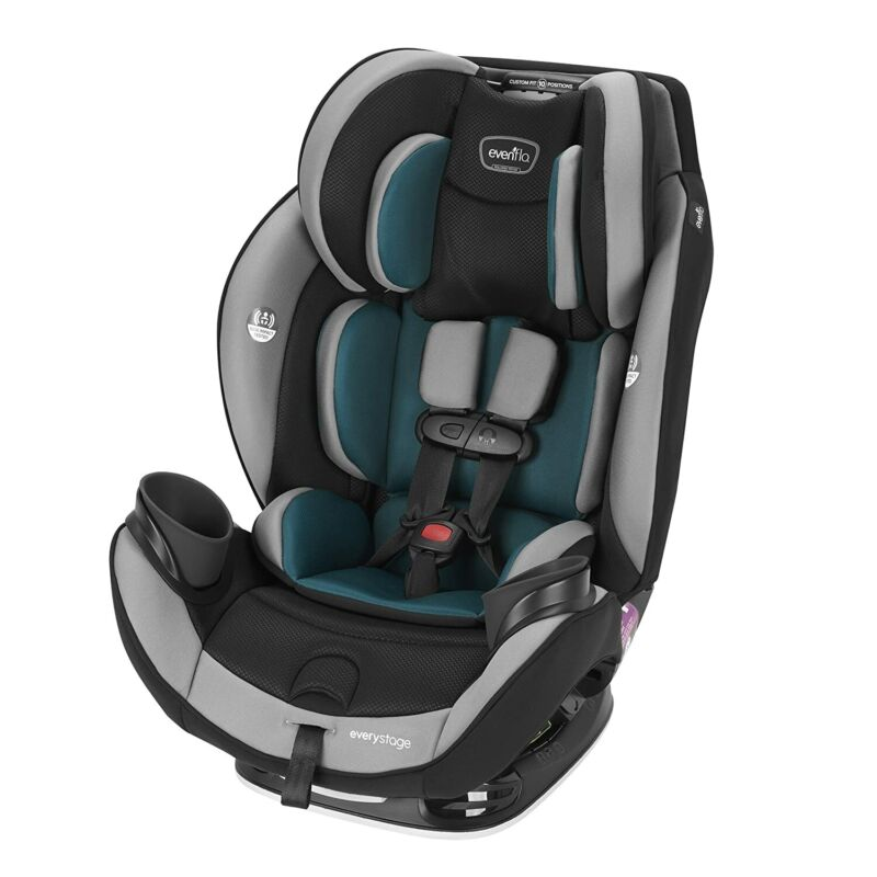 Evenflo EveryStage DLX Rear-Facing Convertible Car and Booster Seat, Reef Blue