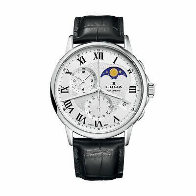 Edox 01651 3 AR Men's Les Bemonts Silver Quartz Watch