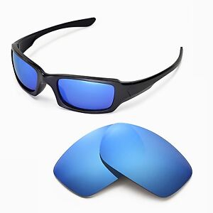 New-Walleva-Polarized-Ice-Blue-Lenses-For-Oakley-Fives-Squared