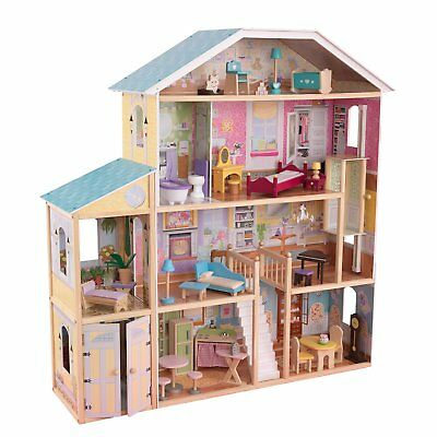 KidKraft Majestic Mansion Pretend Play Wooden Dollhouse with Furniture   65252