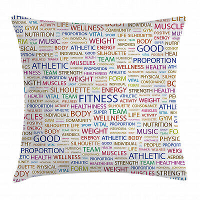 Fitness Sports Throw Pillow Cases Cushion Covers Home Decor
