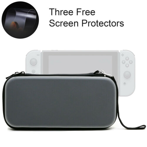 EVA Hard Protective Carrying Case Bag+ 3PCS Screen Protector For Nintendo Switch Bags, Skins & Travel Cases