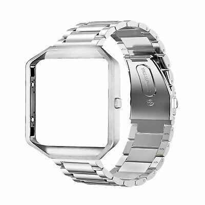 Fitbit Blaze Watch Band Stainless Steel Replacement Strap Watch Band With Frame