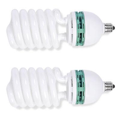 Phot-R 2x Helix Spiral 150W 220V-240V E27 5500K Photo Studio Daylight Bulb Light