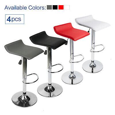 Set Of 4 Bar Stools Swivel Adjustable Dining Chair Pub Bistro Backless Desk Seat (4 Backless Swivel Stools)