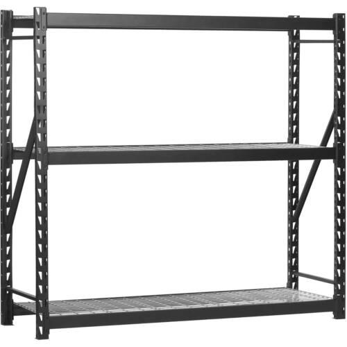"Muscle Rack 3-Tier Black 77""W x 24""D x 72""H Steel Welded Storage Rack"