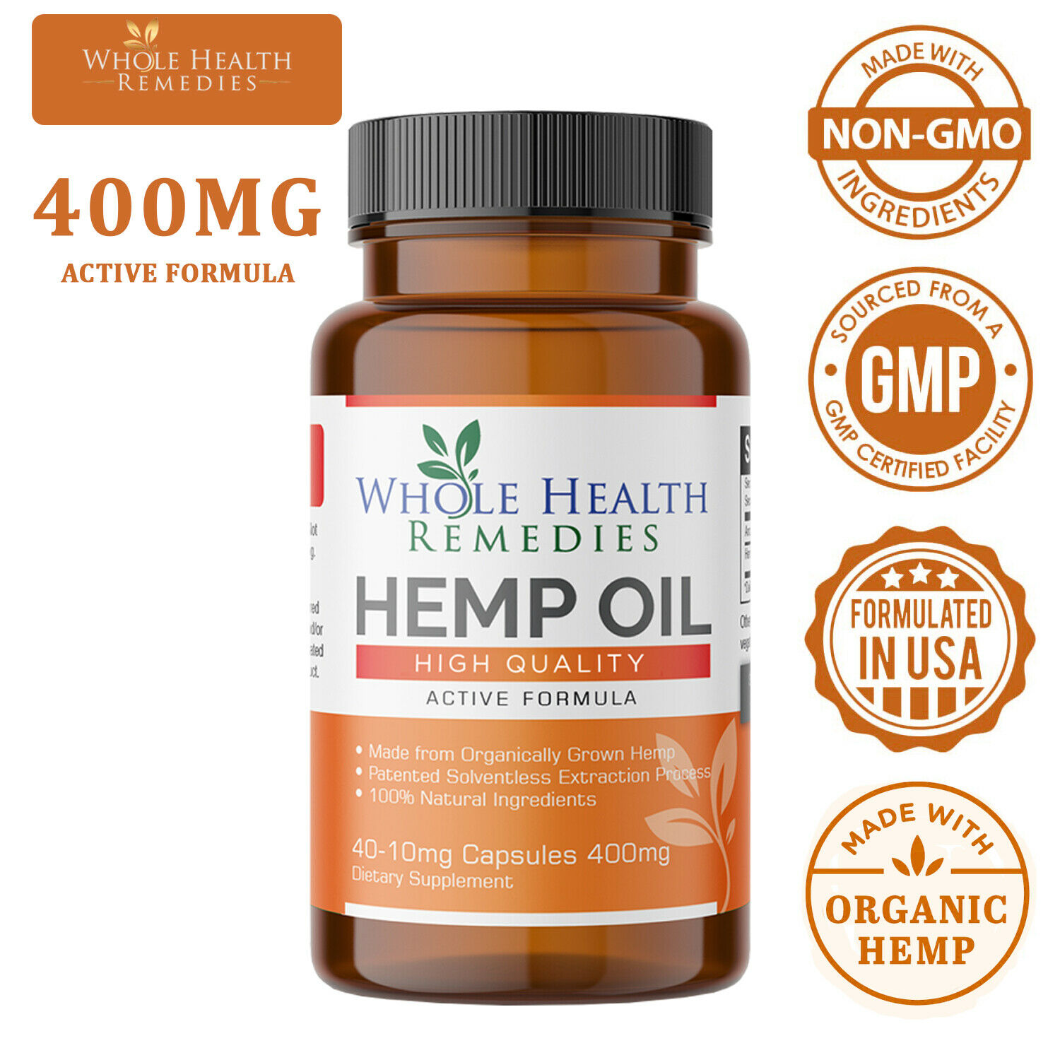Pharmaceutical-Grade Hemp Oil Capsules for Pain & Stress Relief and Insomnia 5