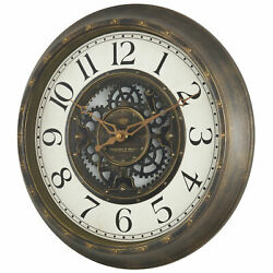 15.5 Gear Wall Clock Wall Clock Aged Large Numerals Steampunk Finish Retro