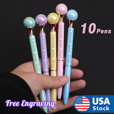 10xPearl pen Custom metal pens. Name-logo pens. Personalized pens. FREE Shipping Personalized Logo Pens