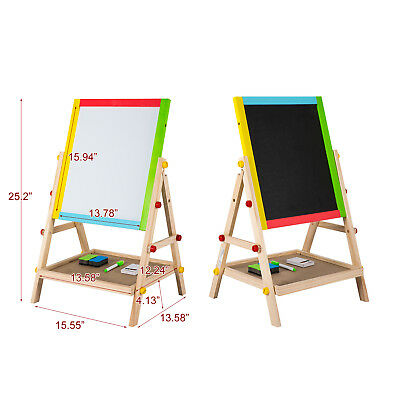 Whiteboard Stand - 3 In 1 Kid Art Easel Double Side Standing Chalkboard Painting Whiteboard Drawing