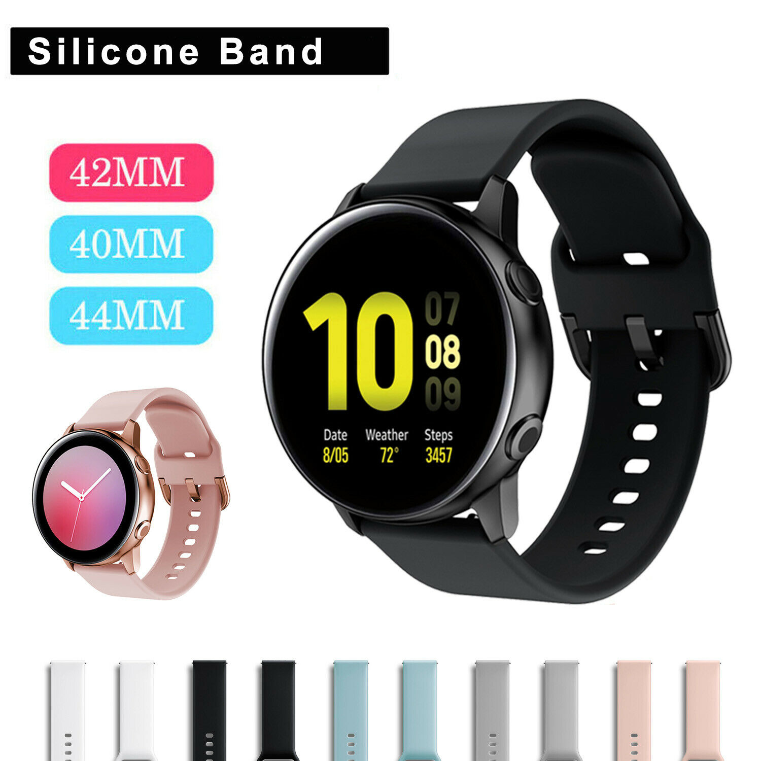 For Samsung Galaxy Watch Active 2 Gear S2 Classic 40/42/44mm
