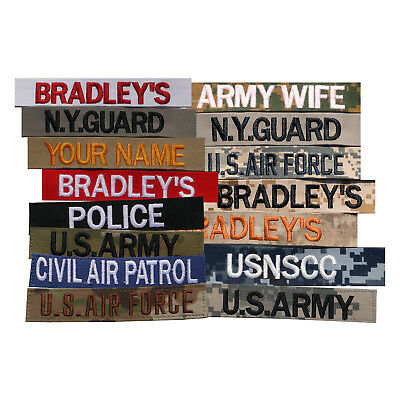 Custom Name Tape, Military Nametape, Embroidered Name Patch, Police Name Tape