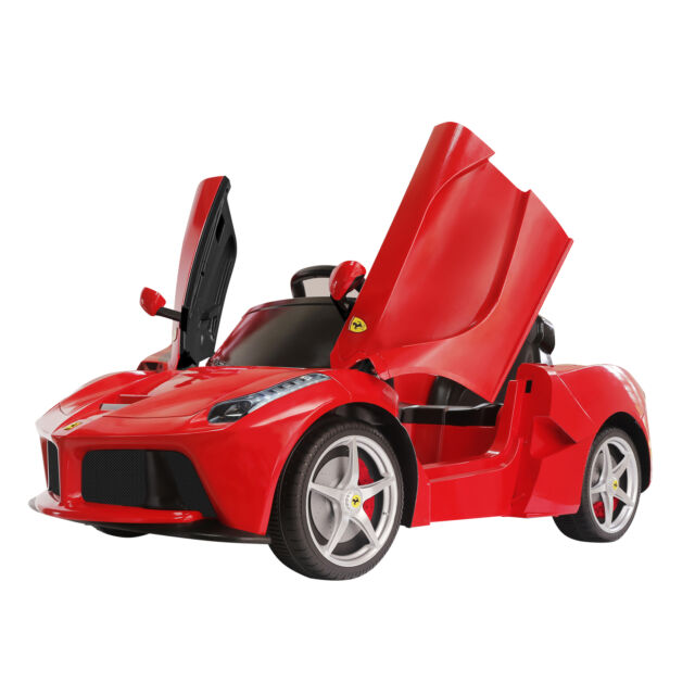 12v laferrari electric kids ride on toy car battery powered remote control red