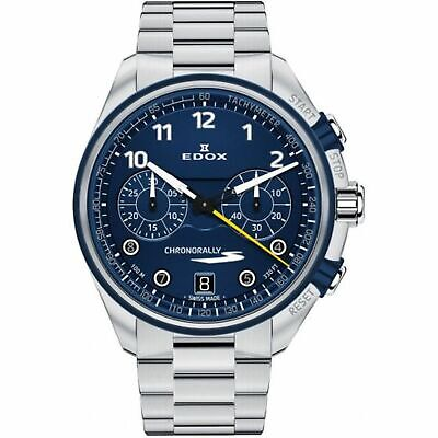 Edox 09503 3BUM BUBG Men's Chronorally Blue Quartz Watch