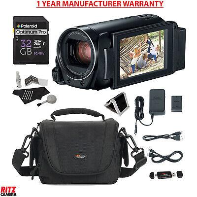 Canon Vixia Hf R800 Black A Camcorder + Polaroid 32GB SD + MANUFACTURER WARRANTY
