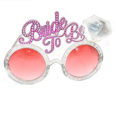 Bachelorette Frauenabend Zukünftige Braut Brille Pink Bling Diamant Ring für