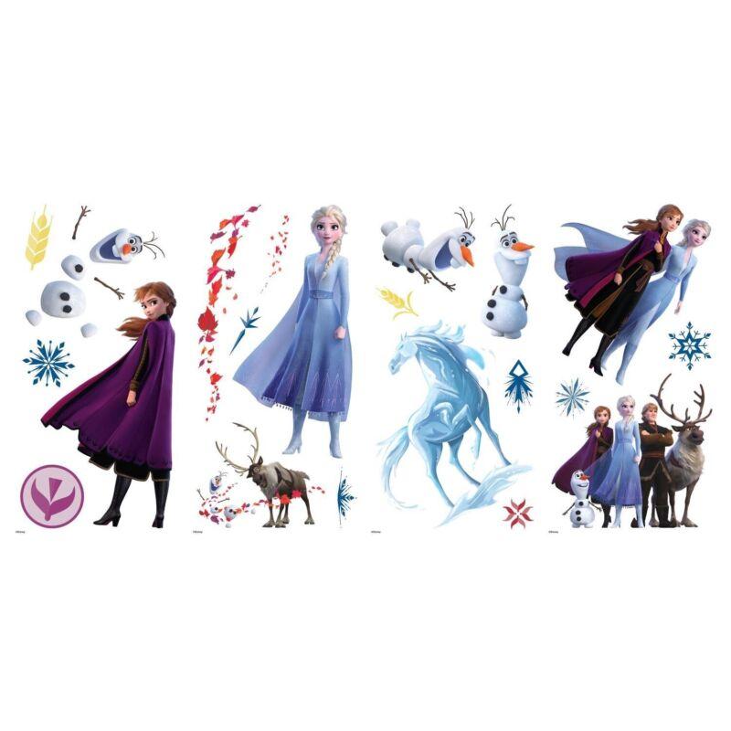 Disney FROZEN 2 Wall Stickers 4 Decals Anna Elsa Olaf Peel /& Stick Room Stickers