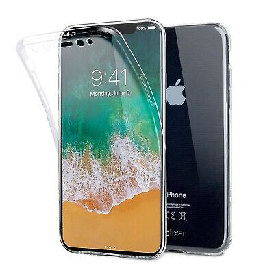 Iphone X Full Cover Case   Clear   Olixar Flexicover   360 Front   Back Prote