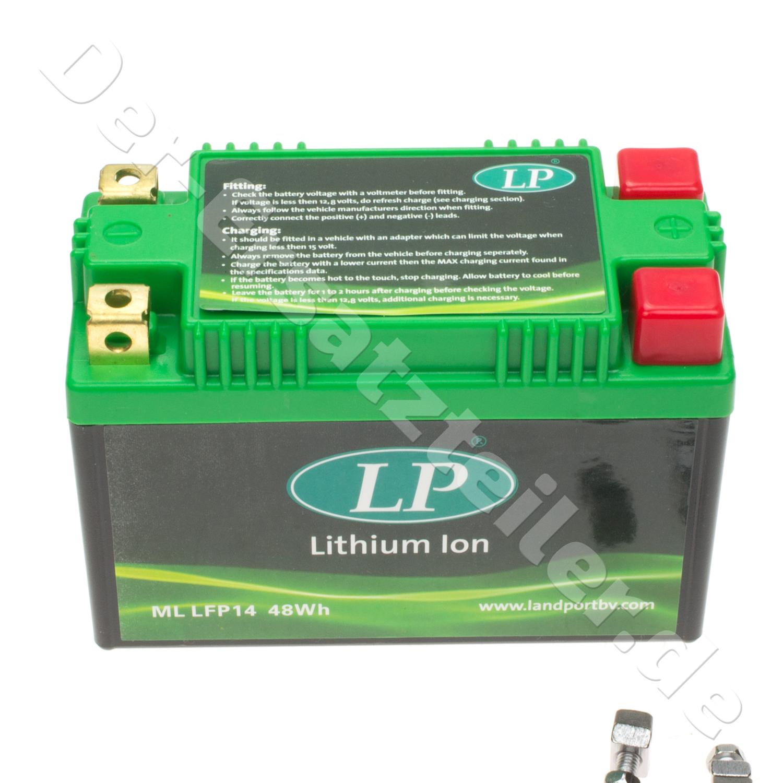 Lithium-Ionen Batterie Landport ML LFP14 für Ducati Multistrada DS 1000