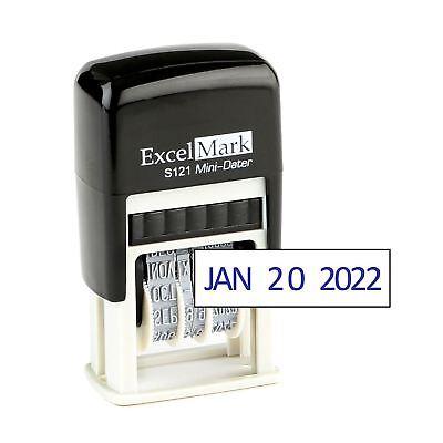Excelmark Self-inking 6-digit Number Stamp - Blue Ink