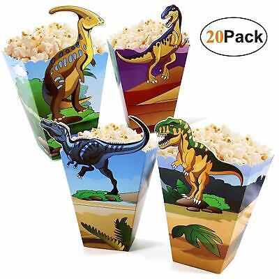 Dinosaur-Party-Supplies-Popcorn-Boxes-Bags Bulk 20 Pack Dino Treat Boxes for Kid](Bulk Supplies)