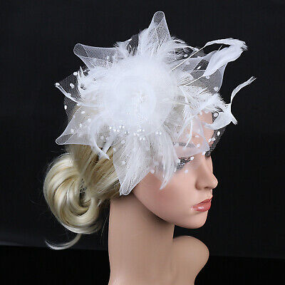 Fascinator Hat Cocktail Tea Party Headband Fashion Women Hair Clip - Headband Hat